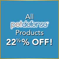 PetDefense products are 22.5% off